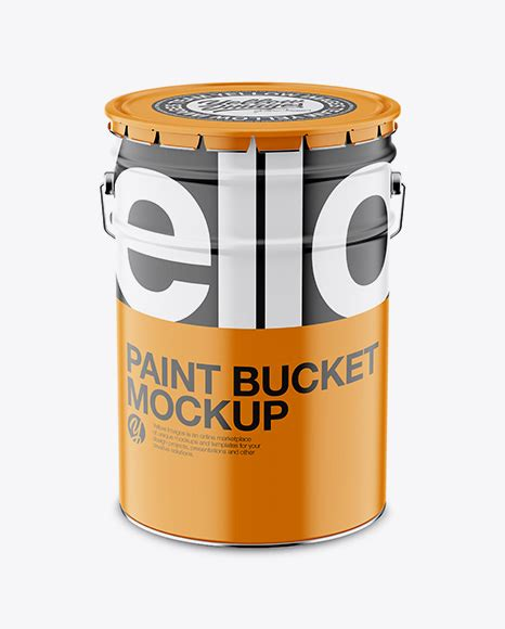 Just need few a minutes and your design will be look great with this mockup. Download Psd Mockup Aluminium Bucket Eye-Level Shot Front ...