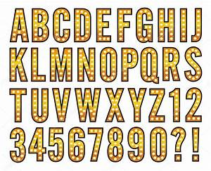 broadway light alphabet marquee bulb sign stock vector With marquee alphabet letters