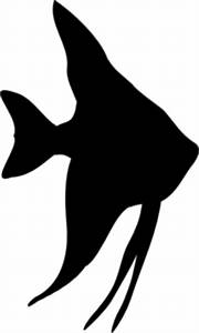 Angelfish Silhouette Clip Art at Clker.com - vector clip ...