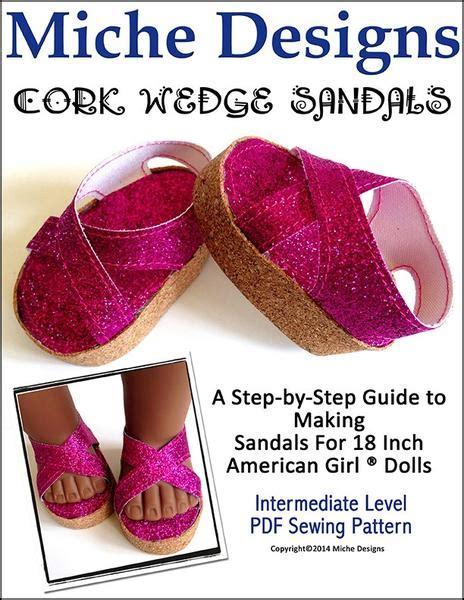 miche designs cork wedge sandals   doll clothes