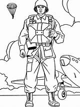 Soldier Coloring Pages Military Army Soldiers Drawing Ww2 Printable British Parachutist Boys Colouring Colorluna Boy Sheets Getcolorings Luna Getdrawings рисунки sketch template