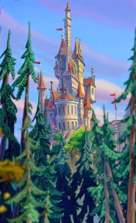 drawn castle beauty   beast pencil   color