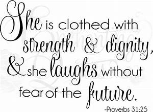 Ready-to-Cut Sayings - Clothed in Strength and Dignity Quotes