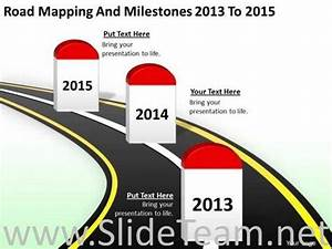 Road Mapping And Milestones Timeline Diagram