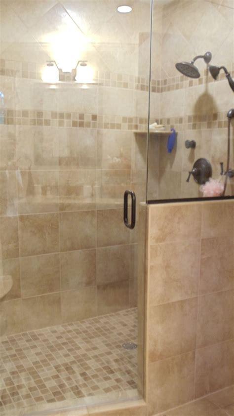 walk  shower  seat bathroom ideas pinterest