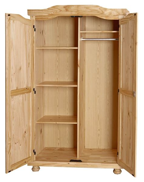 chambre pin massif armoire contemporaine 2 portes en pin massif naturel