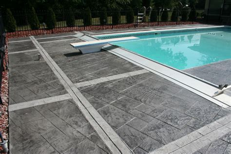 diy concrete pool deck resurfacing options slip resistant pool deck decorative concrete pool decks