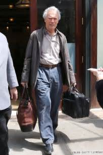 clint eastwood leaving  hotel  nyc celeb dirty laundry