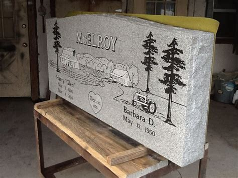 created by dixie monuments and this is grey granite