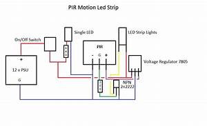 Transistors - 12v Led Strip Lights Controlled By Pir  Want To Add Ldr To Project