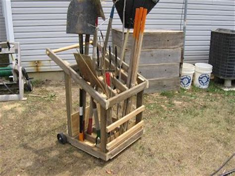 garden tool storage cart woodworking projects plans