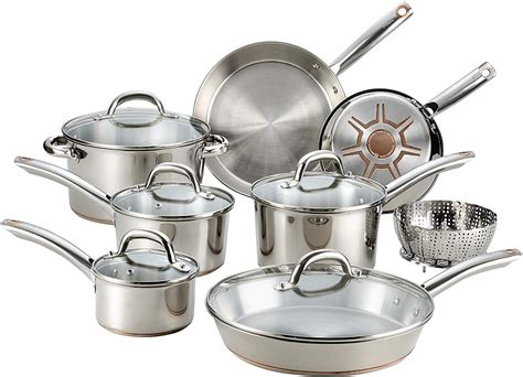 fal csd ultimate stainless steel copper bottom cookware pro