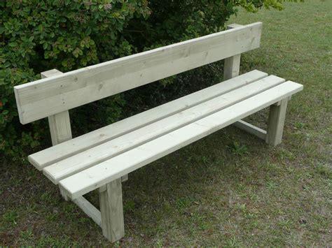 banc en bois de jardin banc de jardin avec dossier en bois trait 233 autoclave vert
