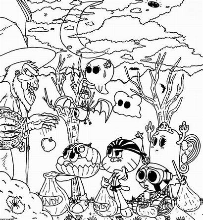 Gumball Coloring Amazing Pages Printable Pr Coloring2print
