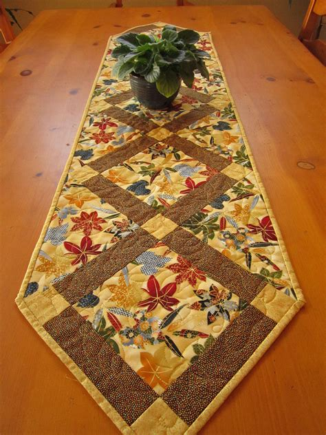 quilted table runners quilted table runner maple leaves fall table runner