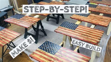 depth wood american flag build  money