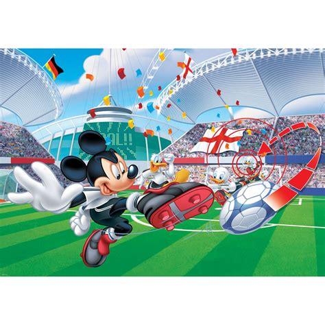 papier peint mickey mouse football disney 254 x 184 cm