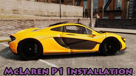 How To Install Car Mods In Gta 5 Mclaren P1 (gta 5 Most