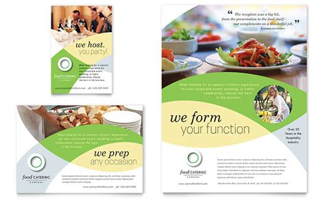 food catering flyer ad template word publisher