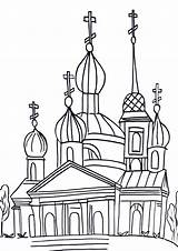 Coloring Pages Domed Church sketch template