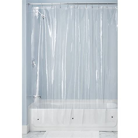 mdesign 10 heavy duty vinyl shower curtain liner