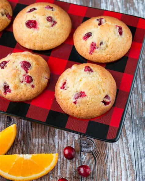 cranberry orange muffins  sweet baker