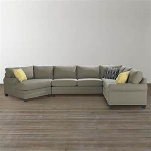Cu2 left cuddler sectional sofa bassett home furnishings for Sectional sofa with chaise and cuddler