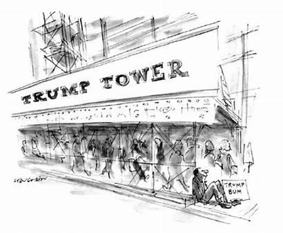 Trump Cartoon Yorker Stevenson Cartoons James Lounge