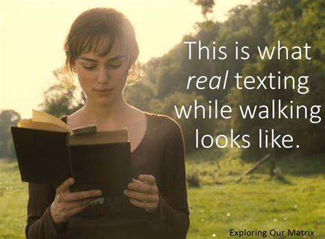 real texting  walking james mcgrath