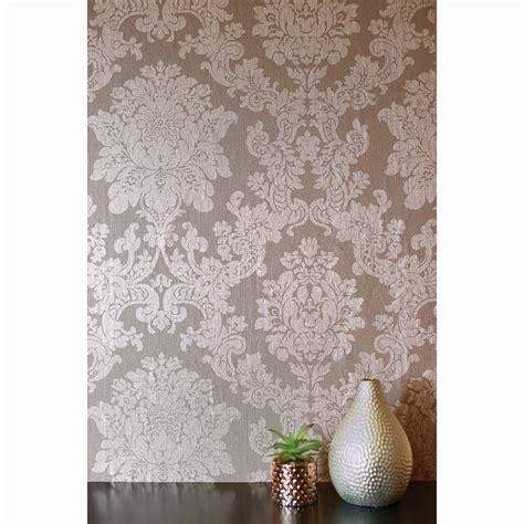 velvet damask wallpaper rose gold diy bm
