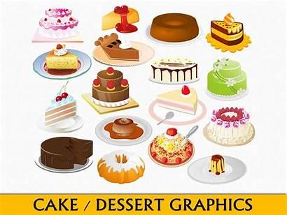Dessert Clip Cake Graphics Clipart Chocolate Caramel