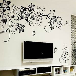 Hot DIY Wall Art Decal Decoration Fashion Romantic Flower ...