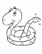 Coloring Pages Snake Snakes Printable Cute Sea Baby Clipart Popular Coloringhome sketch template