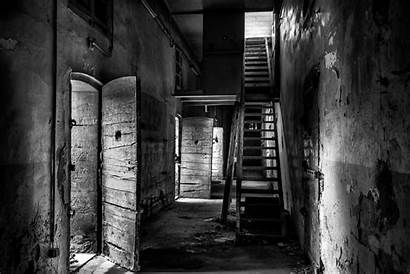 Prison Hallway Abandoned Prisons Stairs Door Hdr