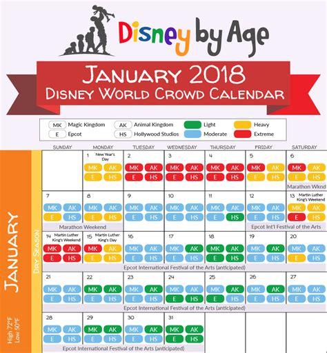 Disney World Crowd Calendar Disney World Crowd Calendar