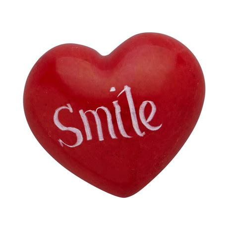 smile heart paperweight
