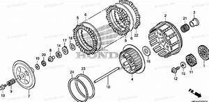 Honda Motorcycle 2009 Oem Parts Diagram For Clutch