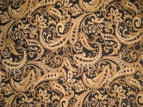 Drapery Fabric By The Yard by Chenille Upholstery Black Paisley Drapery Fabric Sold By