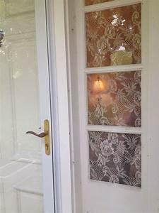 Corn Starch And Lace For Privacy Windows Home Decor