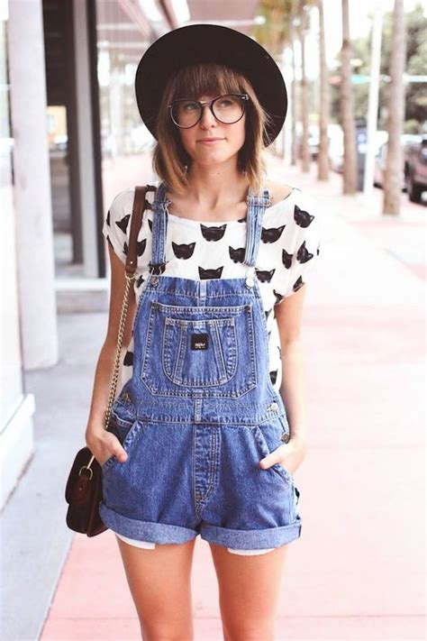 Best 25+ Jean short overalls ideas on Pinterest | Overalls outfit Outfits with overalls and ...