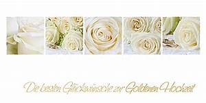 Glückwunschkarten Zur Goldenen Hochzeit : goldene hochzeit wei e rosen www stimmungs ~ Frokenaadalensverden.com Haus und Dekorationen
