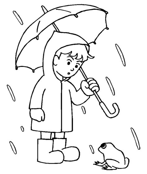 rainy day coloring pages for az coloring pages