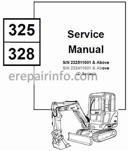 Bobcat 325 328 Service Repair Manual Excavator 6901138 2