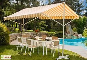 Tonnelle Terrasse : store de terrasse sur pieds double pente 3 5x3m ozalide ~ Melissatoandfro.com Idées de Décoration