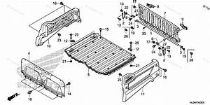 Honda Side By Side 2014 Oem Parts Diagram For Bed Plate