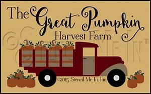 The, Great, Pumpkin, Harvest, Farm, Stencil