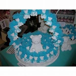 ours blanc avec bebe garni turquoise 40 pieces moka palace With affiche chambre bébé avec corbeille de fleurs mariage