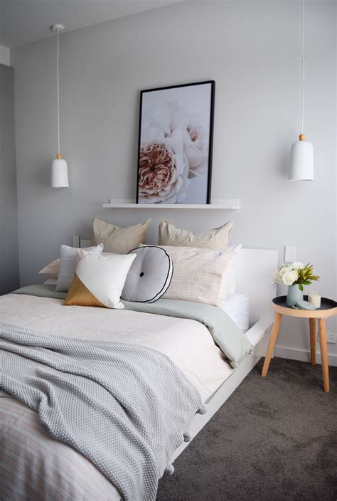 muted blush pink  gold bedroom  siesta home style