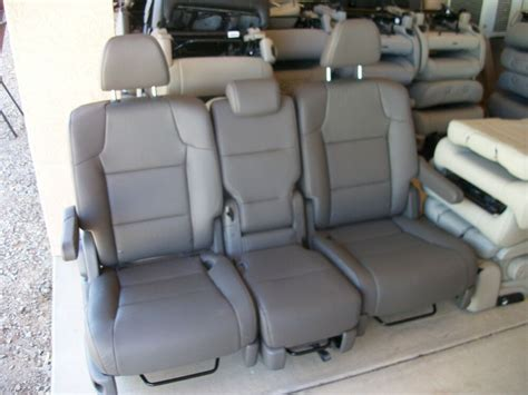 New 2 Bucket Seats & Middle Seat Charcoal Leather Van Bus