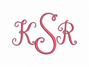 stylish 3 letter monogram font machine embroidery monogram With letter it embroidery software free trial